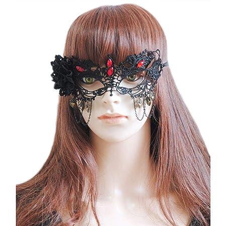 Máscara Mujer Ojos Media Cara Media Fiesta de Halloween ...