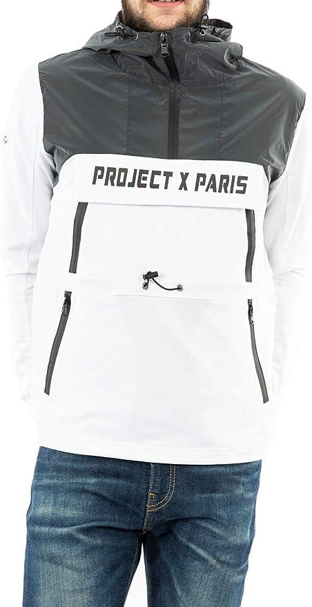 Sweat /à Capuche Style Coupe Vent bi-mati/ère Homme Project X Paris