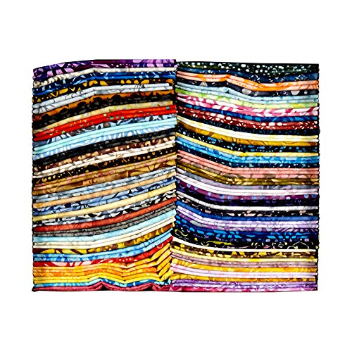 Anthology Batiks 0592392 Anthology Fabrics Batik Fat Quarter Box 72 Pcs Multi, ()