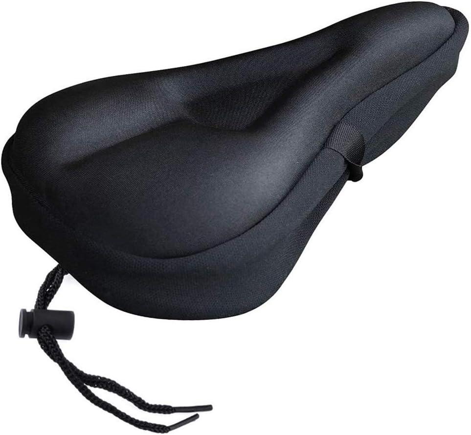 mit Sicherheitsband Hihey Gel sattelbezug Gel/überzug f/ür Fahrradsattel gepolstert Ungef/ähr 17,7 27,9 cm