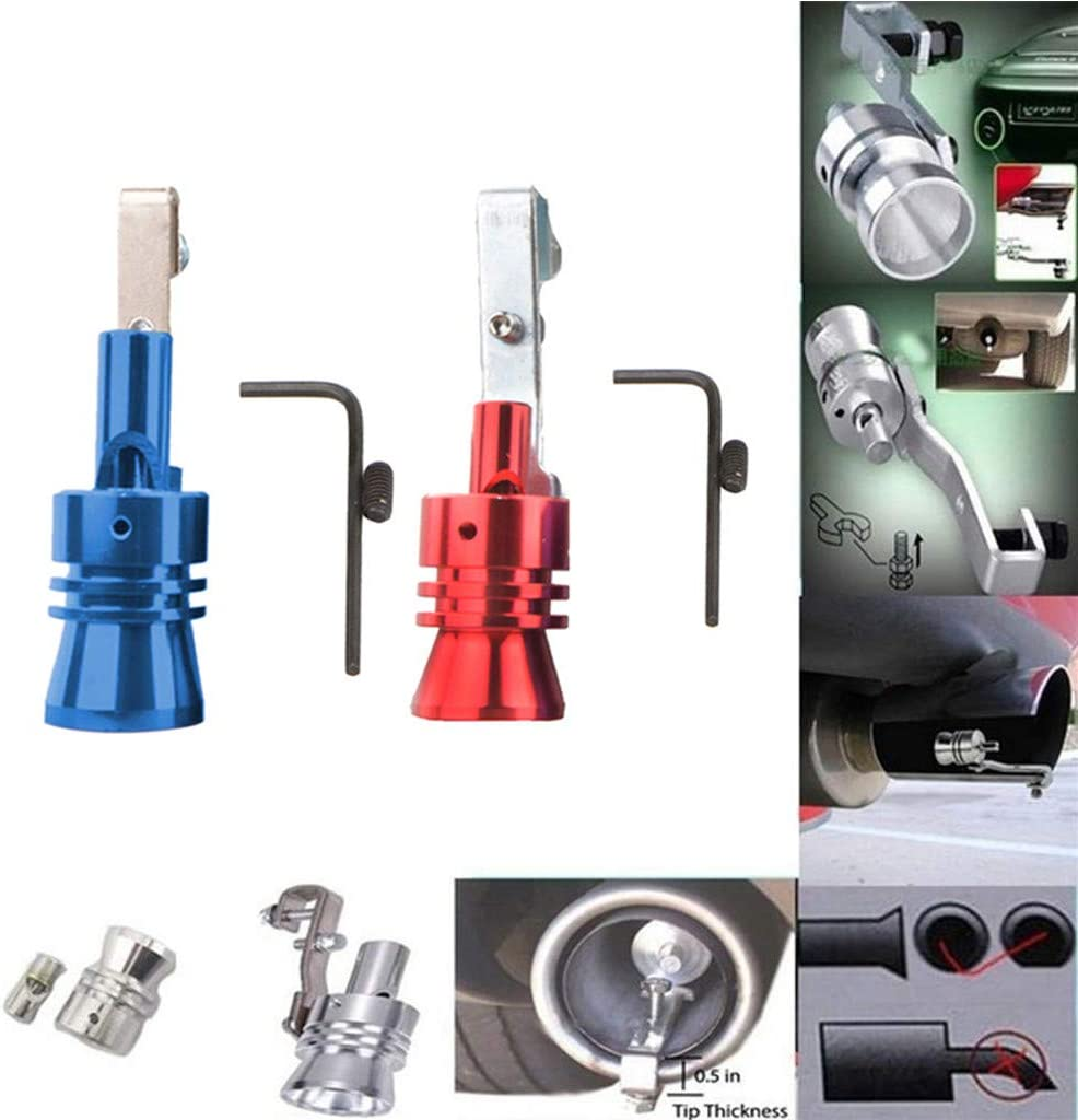Blow-Off Valve Simulator Exhaust Pipe Oversized Roar Maker Turbo Sound Speakers Size S M L XL CSSD Car Turbo Whistle L, Black+Red
