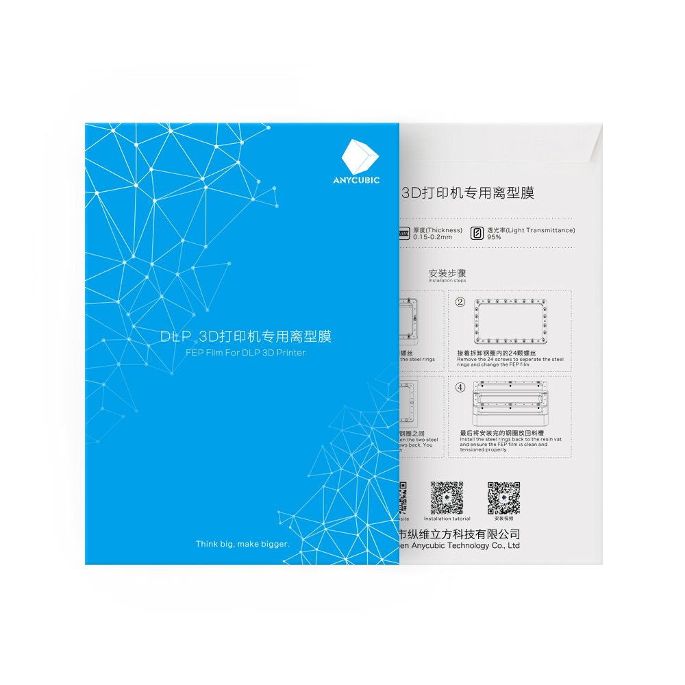 ILS - Anycubic 140x200mm SLA/LCD FEP Film Per Photon resina DLP 3D 0.15-0.2mm stampante Filamenti stampante 3D I LOVE SHOPPING