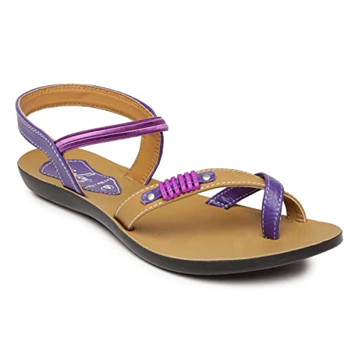 83ce83e0cdc1 PARAGON SOLEA Women s Violet Sandals  Buy Online at Low Prices in India -  Amazon.in