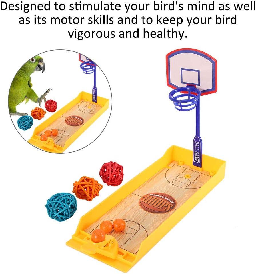 Aves de compa/ñ/ía Mini Juego de Baloncesto Mesa de Escritorio Inteligencia educativa Juguetes de Entrenamiento Loros Juguetes de masticaci/ón Sheens Juego de Juguetes de Baloncesto de Loros