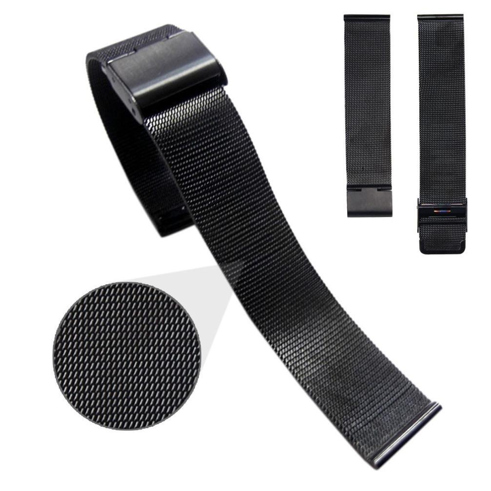 ホットセールsivikiファッションMilaneseステンレススチール20 mm腕時計バンドストラップ 22mm ブラック 22mm|ブラック ブラック 22mm B079Y6DC2N