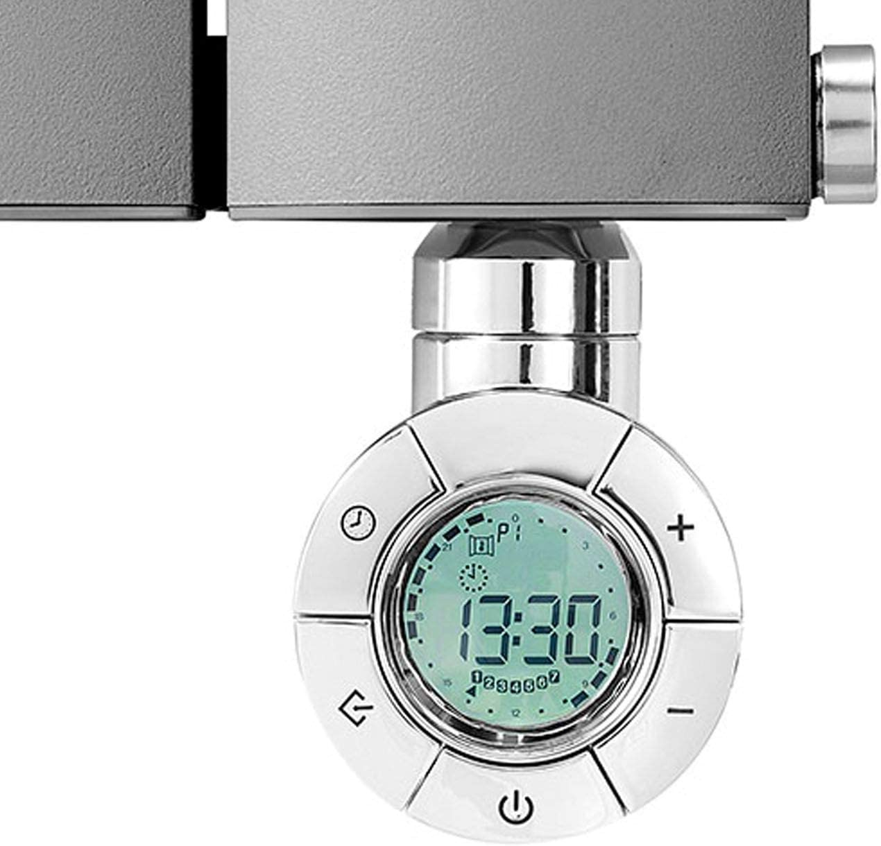 Geyser DYNAMIC Eco Design Chrome Thermostatic Electric Heating Element for Radiators 200W Towel Rails and Towel Warmers
