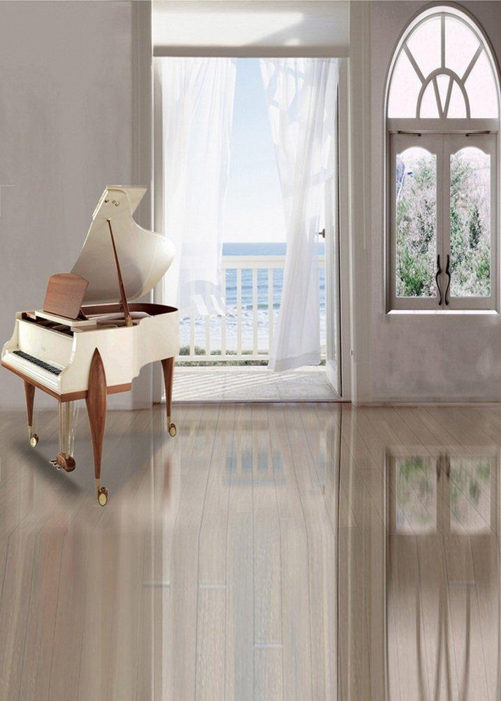 クリア部屋ピアノ写真Backdrops写真小道具Studio背景5 x 7ft   B01G6OYNR4