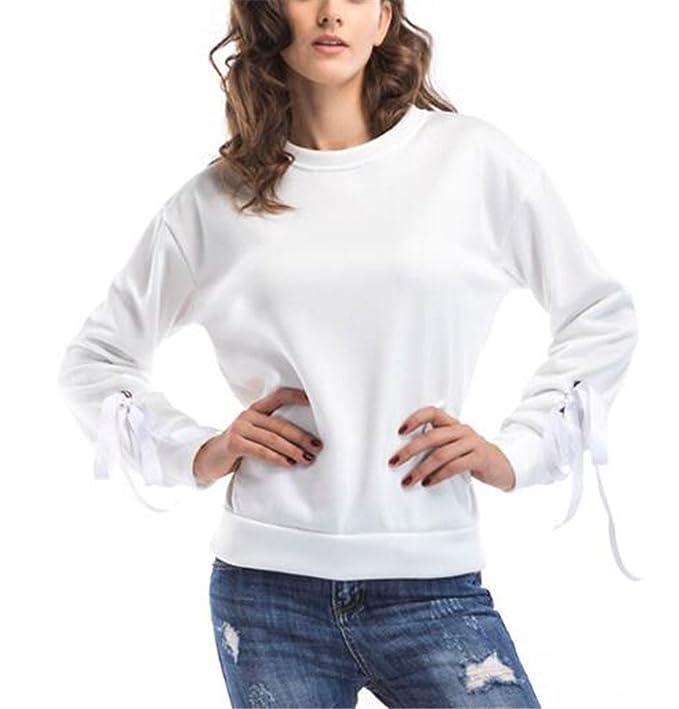 AILIENT Sudadera De Manga Larga Cuello Redondo para Mujer con Personalizadas Camisetas Bonitas Blusas Sweater Delgada: Amazon.es: Ropa y accesorios