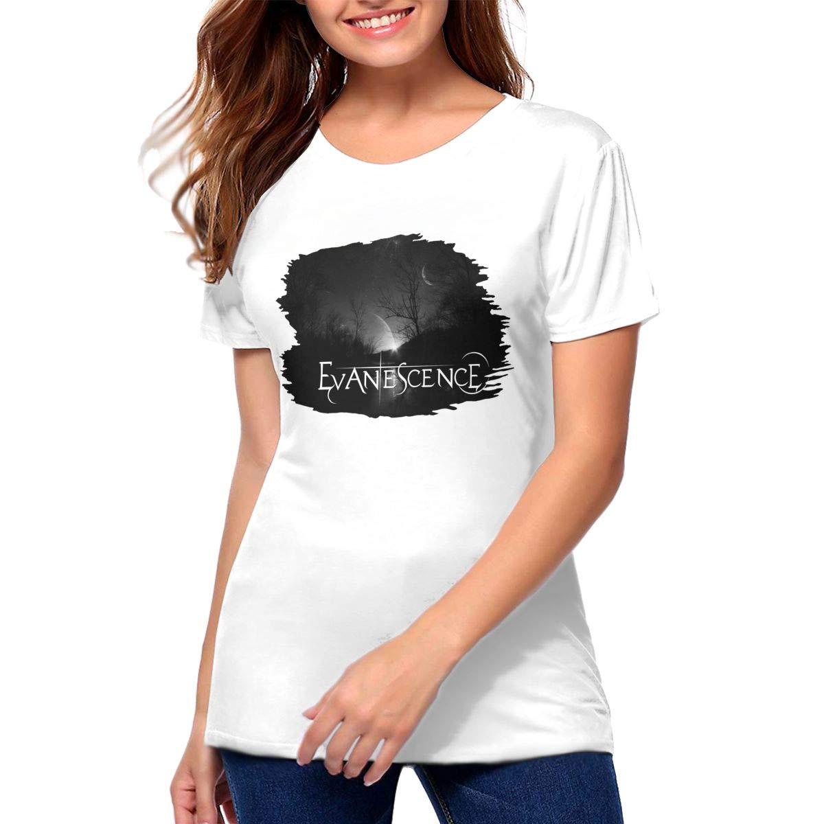 Evanescence Fashion Short Sleeve Round Neck Shirt Black