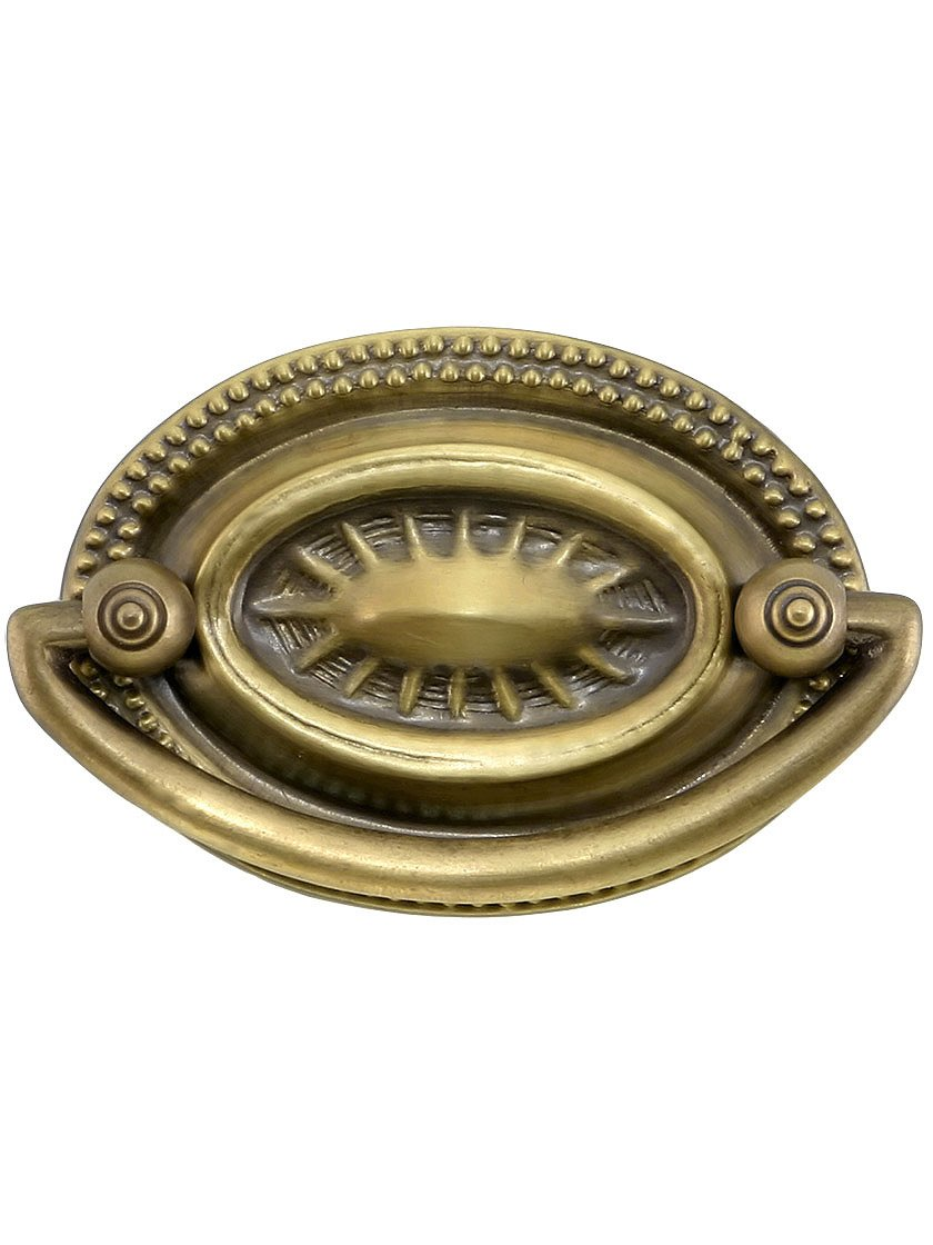Small Hepplewhite Style Double Post Pull In Antique By Hand Finish    Cabinet And Furniture Pulls   Amazon.com