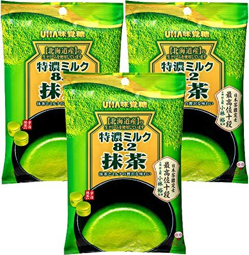 Mikakuto Tokuno Milk 8.2 Matcha Candy 2.96oz (3 Pack) by UHA mikakuto