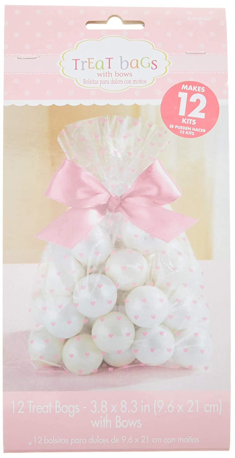 Baby Shower Cello Treat Bags Pink Amscan 380086