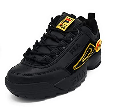 25589e7b53a0 Fila Womens Disruptor II Patches Black (5