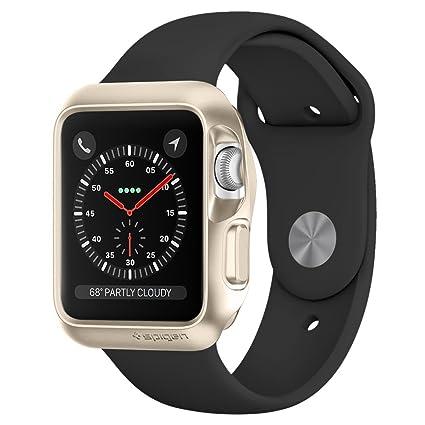 Amazon.com: Apple Watch caso, Spigen [Slim Armor] Cojín de ...