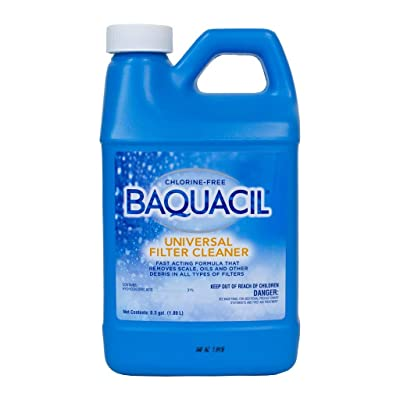 Baquacil 84384 Universal Filter Cleaner Swimming Pool Cleanser, 0.5 gal, Clear : Garden & Outdoor