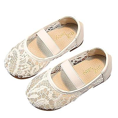 ADESHOP Baby Shoes,Fashion Enfants Fille Maille éLastique Bande AntidéRapant Princesse Chaussures de Loisirs Fille Bande éLastique Broderie Chic Chaussures de Filet