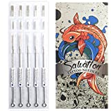 Assorted Tattoo Needles Liners and Shaders - 100 Pieces - Disposable & Sterilized - Mixed Box Round & Magnums Sizes by Salvation
