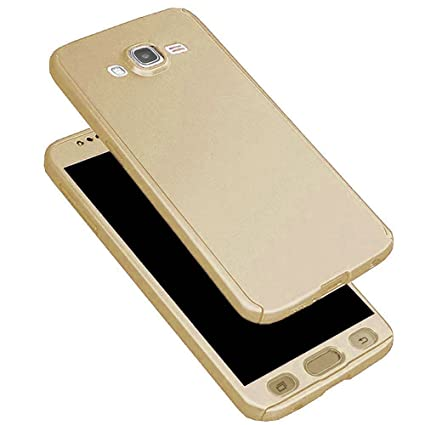 huge selection of e6210 1bb55 Johra Samsung Galaxy J7 Prime Full Body Front & Back 360 Protective Golden  Body Case Cover