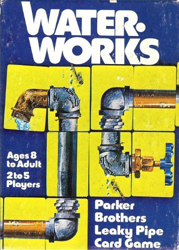 Waterworks / Parker Brothers Leaky Pipe Card Game (Waterworks Game)
