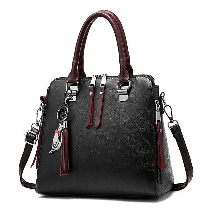 Amazon.com: Bolsas de hombro grandes para mujer, color rosa ...