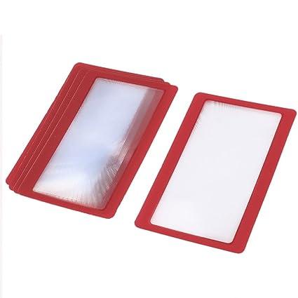 5 piezas de la tarjeta de crédito rojo del marco de lectura ...