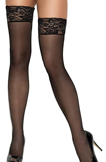 8033216f344 Image Unavailable. Image not available for. Color  Women s Sheer Back Seam  Thigh High ...