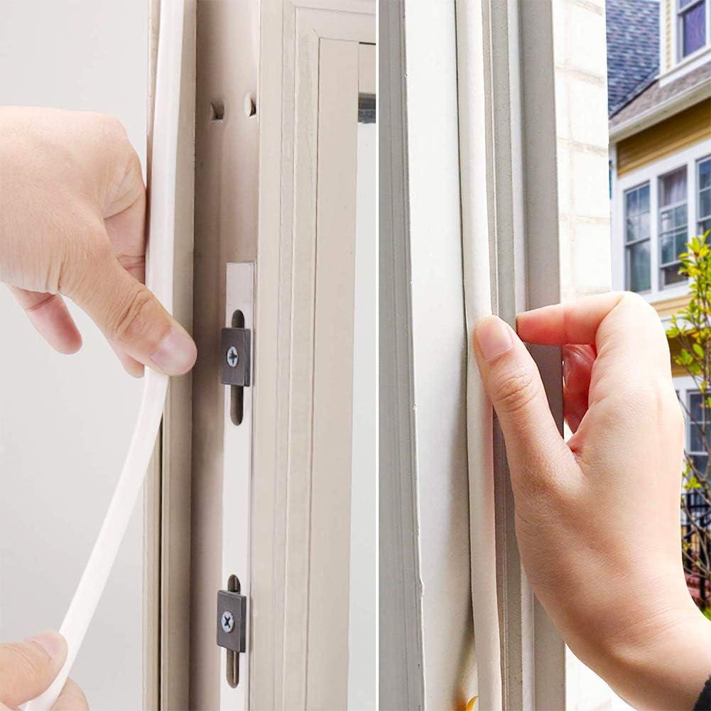 urlete de ventana tipo I autoadhesivo EPDM burlete de puerta ventana burlete tira de espuma sellado insonorizante Avoidance goma burlete 9 mm x 2 mm x 12 m: Amazon.es: Bricolaje y herramientas