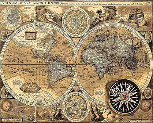 5d Diamond Embroidery Countdown World Map | Square/Round Mosaic Rhinestones Full Diamond Painting | Cross Stitch Home Decor