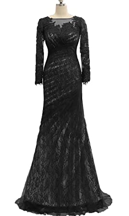 Womens Beaded Prom Dresses Chiffon Long Evening Formal Gowns 2018 Black,2