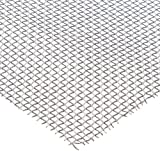 Aluminum Woven Mesh Sheet, Unpolished (Mill) Finish, ASTM E2016-06, 36'' Width, 36'' Length, 0.063'' Wire Diameter, 76% Open Area
