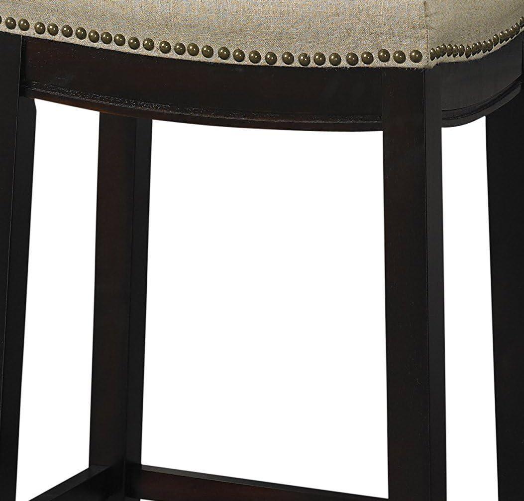 Linon Hampton Stool Fabric Top 24-inch