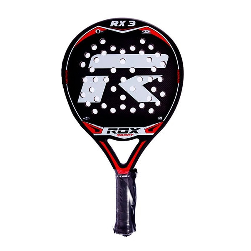 Amazon.com : ROX RX3 Padel Tennis Racquet, Unisex Adult, Black/Red/Grey, 38 mm : Sports & Outdoors