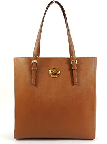 83a82b77b9b6 Amazon.com: Michael Kors Jet Set Travel Large North South Tote - Luggage  Brown Saffiano Leather: Shoes