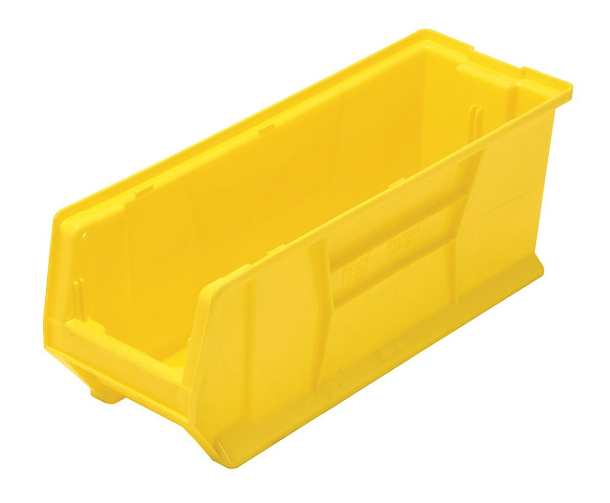 Quantum QUS951 Plastic Storage Stacking Hulk Container, 24-Inch by 8-Inch by 9-Inch, Yellow, Case of 6 by Quantum Storage Systems B002E8J8RM
