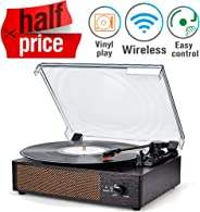 Record Player Turntable Wireless Portable LP Phonograph with Built in Stereo Speakers 3-Speed Belt-Drive Turntable Vinyl Reco