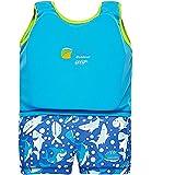 Highdas Enfants bienvenus Float Costume Swim Aid Wear Néoprène Suit une seule pièce à séchage rapide Garçons Swim Trainer Bleu 1-2 ans