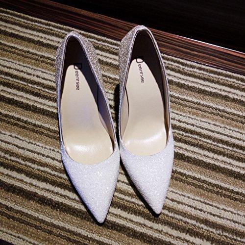 Zapatos de Tacón Alto de Tacón Alto con Zapatos de Mujer Puntiagudos Do