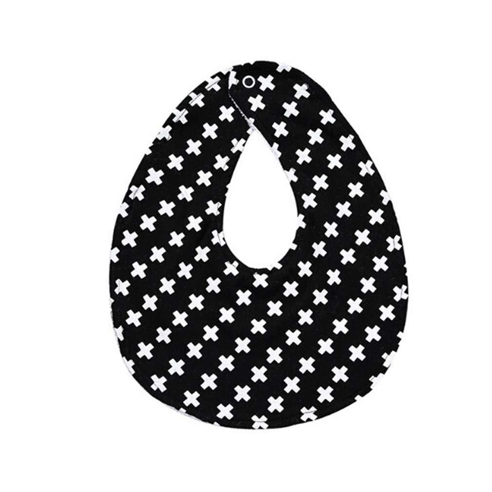 HENGSONG Baby Triangle Saliva Towel Infant Kids Girls Boy Bandana Bibs Head Scarf,Small Cross