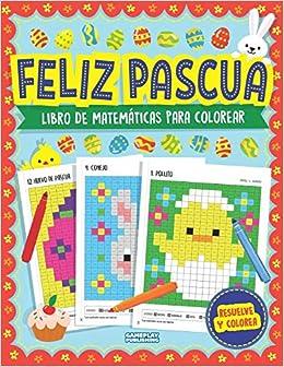 Feliz Pascua Libro De Matemáticas Para Colorear Arte Con Píxeles