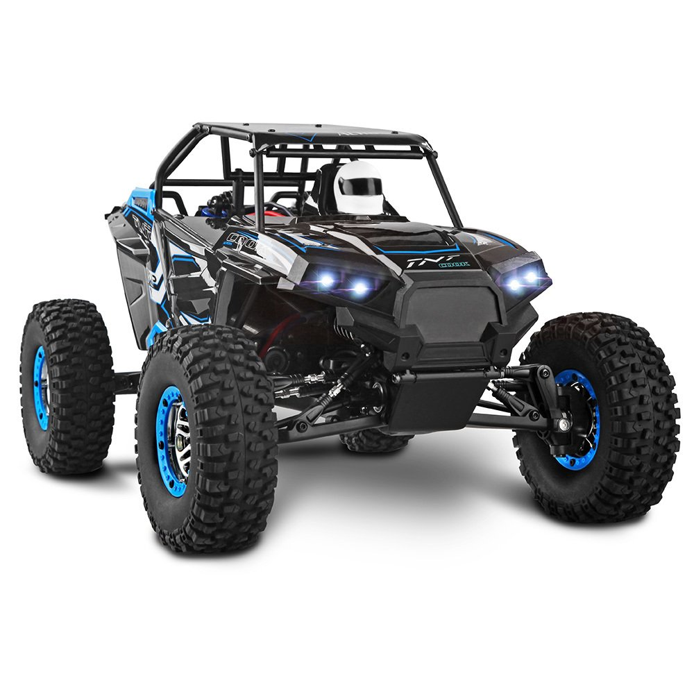 HCCX RC Auto, 30 mph Control Remoto Camión 1: 10 Escala 2,4 GHz 4 WD Agua Densidad Terreno Monster, W/Led Luces RTR RC Escalada Auto, Mejor Regalo para ...