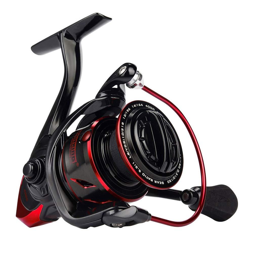 AFFC Innovative Wasserbest/ändigkeits-Spinnrolle 18kg max Drag Power Angelrolle f/ür Bass Pike Fishing