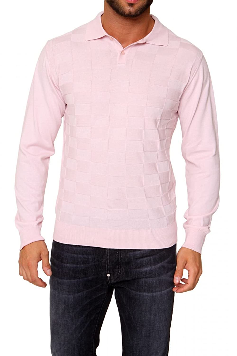 Cortigiani Polo Neck Pullover MARCELLO, Color: Pink