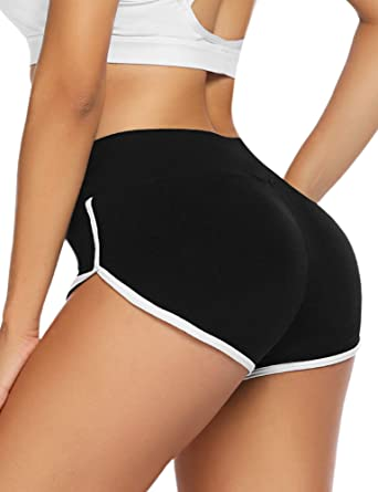 Womens High Waist Yoga Shorts Casual Sports Fitness Workout GYM Hot Pants