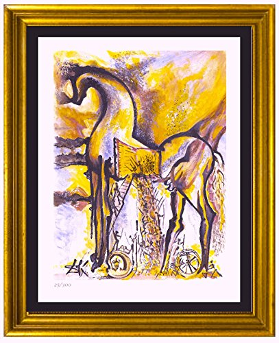 Signed Dali Lithographs (Salvador Dali Signed & Hand-numbered Limited Edition Lithograph Print,
