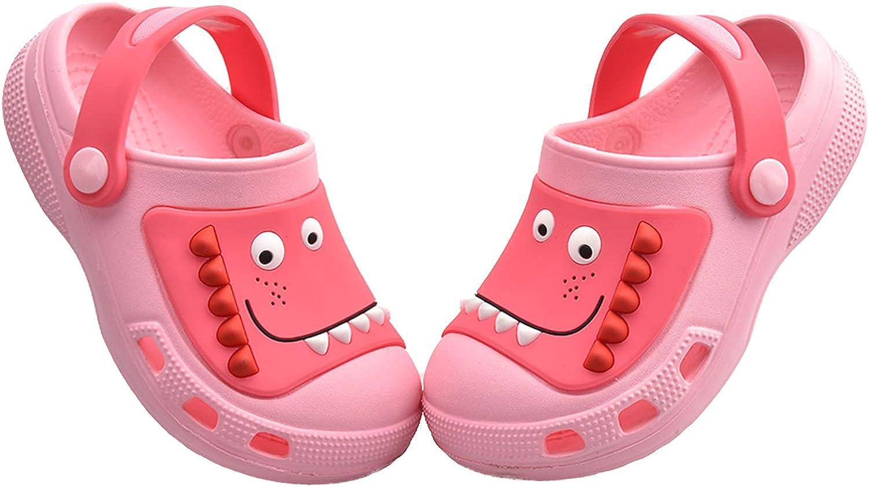 MARITONY Kids Boys Girls Dinosaur Clogs Slippers Toddler Slip On Lightweight Beach Pool Sandals