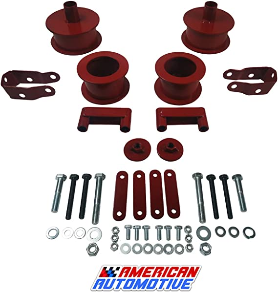 KSP 3Front and 3Rear Full Suspension Lift Kits with Shock Extenders fit for 2007-2018 Wrangler JK 2WD 4WD, Such as Editions Rubicon//Unlimited//Sahara//Sports and More(Black