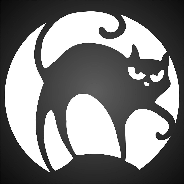 Halloween gato plantilla – reutilizable de pared plantillas para pintar – mejor calidad Decor Ideas – uso en paredes, suelos, tejidos, cristal, madera, y más... Small: Amazon.es: Juguetes y juegos