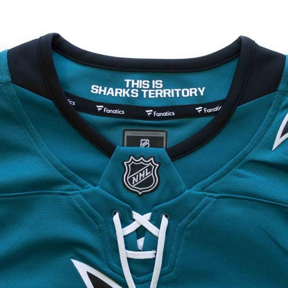 553ce73fe5489 Sport   Freizeit Fanatics San Jose Sharks Breakaway NHL Trikot Home Türkis  Trikots