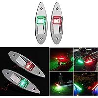 Tendlife Led-navigatieverlichting voor boten, Marine Boat jacht Light 12 V roestvrij staal, waterdichte LED Pontons zeil…