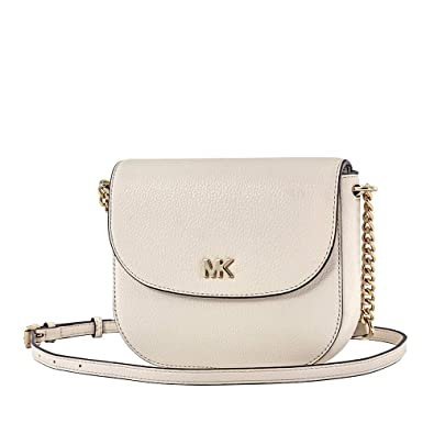 0252c66f5e0f Image Unavailable. Image not available for. Color: Michael Kors Mott  Pebbled Leather Crossbody- LT Cream